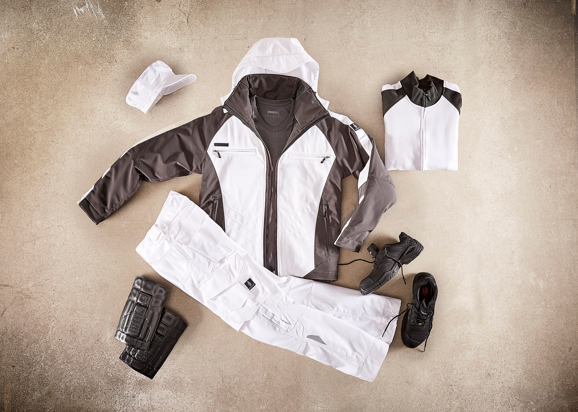 Collage - Veste grand froid, Pantalon, Sweat & Chaussures de sécurité - Blanc