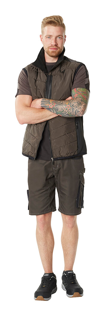 MASCOT® UNIQUE- Shorts de travail, T-shirt & Gilet - Gris